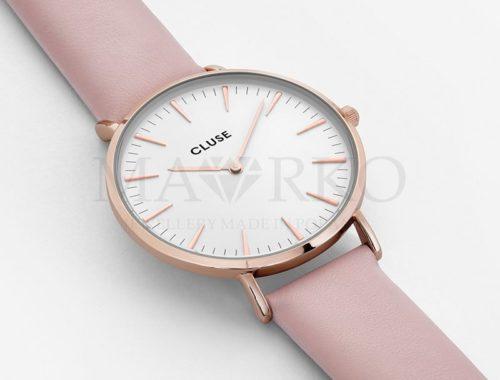 zegarek Cluse z różowym paskiem