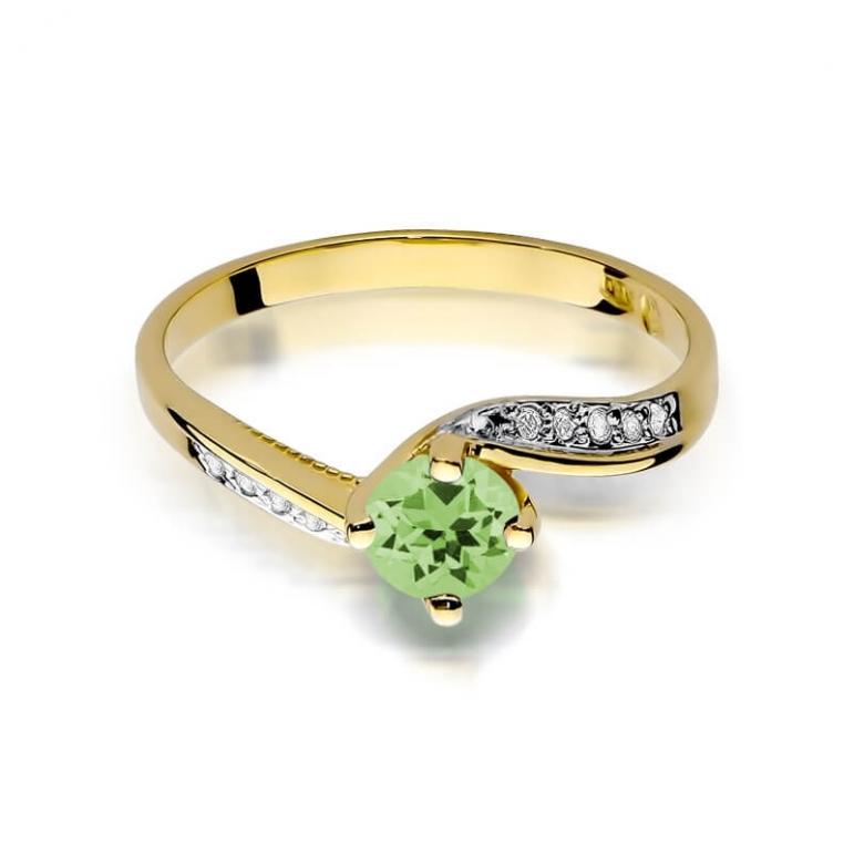 pierścionek z oliwinem